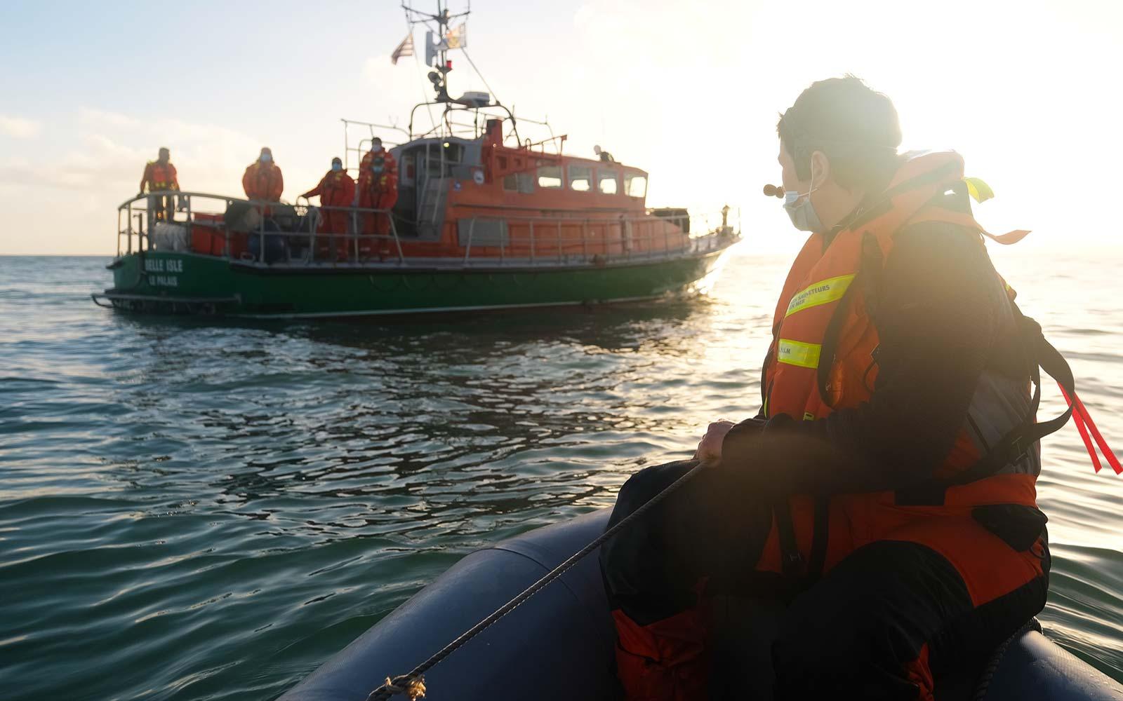 Exercice à bord du canot de sauvetage